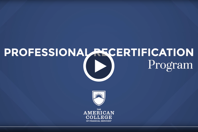 Professional Recertification Program Tutorial