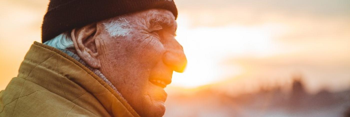 Elderly Man looking out