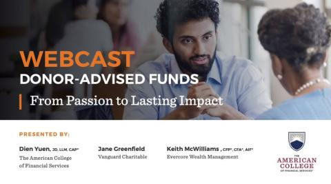 Donor-Advised Funds Webcast