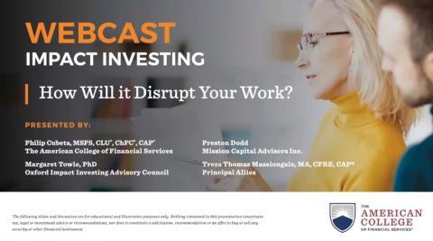 Impact Investing Webcast